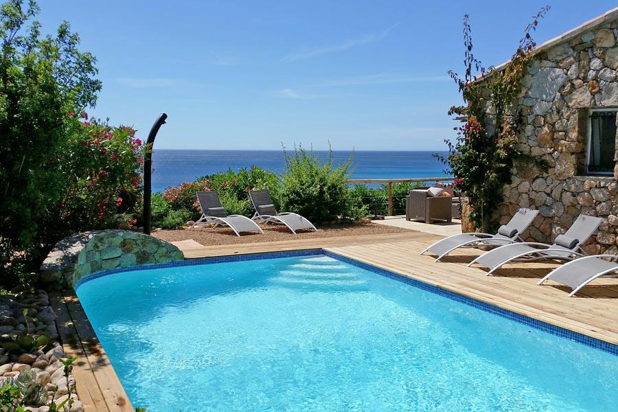 Ste Lucie De Porto Vecchio Villa Vacation Rentals 5* Pool Jacuzzi Front Of  The Beach ...