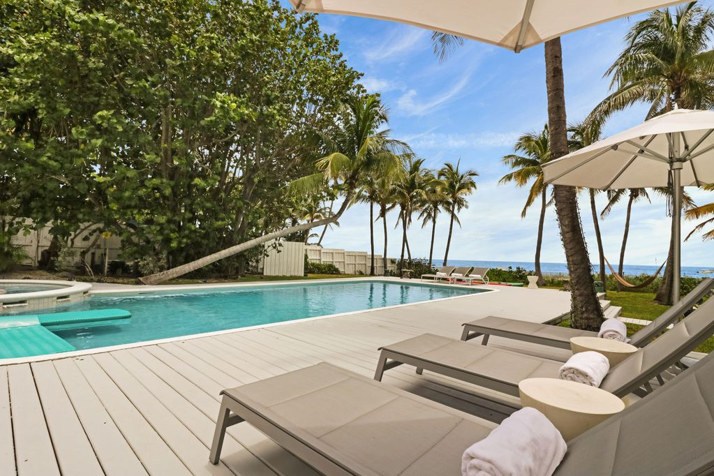 Fort Lauderdale Beachfront Vacation Rental Villa with heated pool and staff Florida