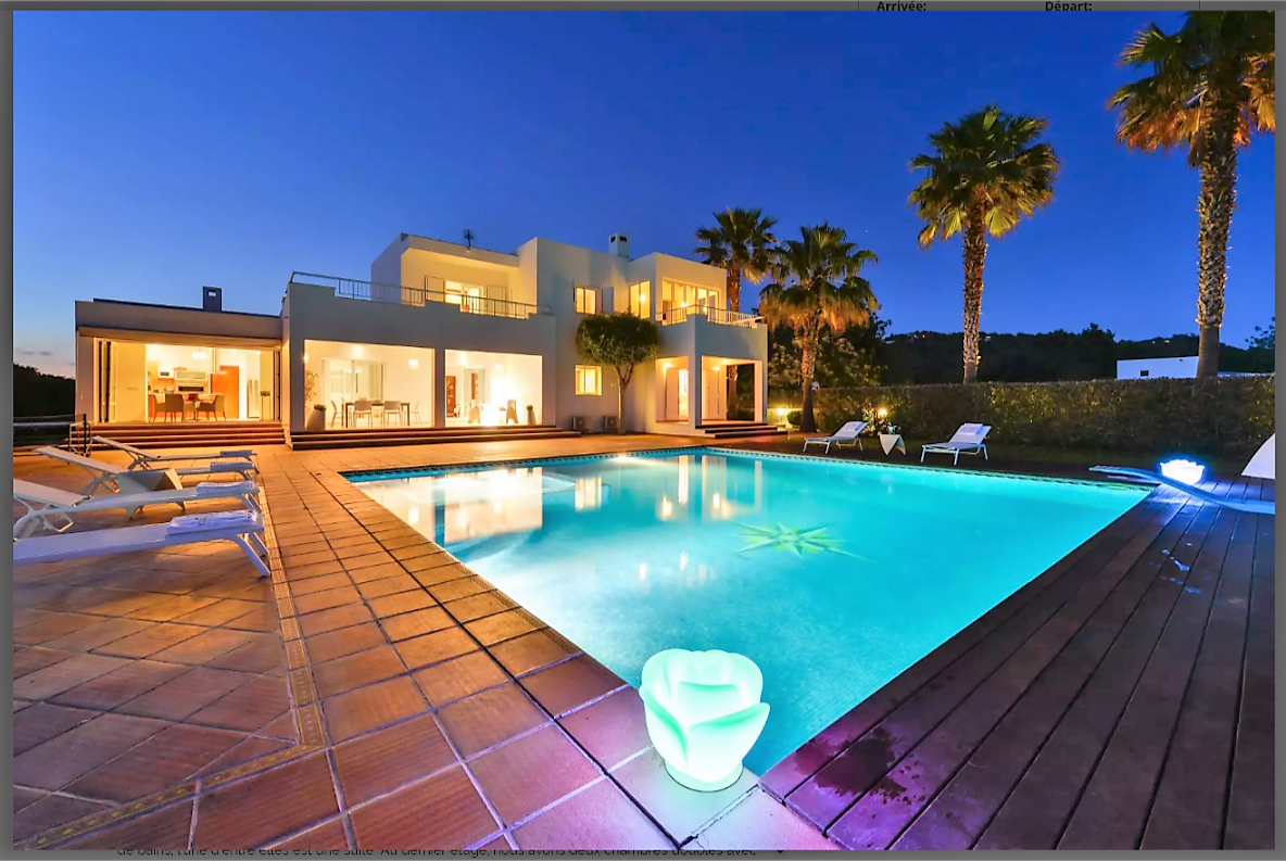 Wheelchair Friendly Ibiza Luxury Villa For 8 Persons Private Pool