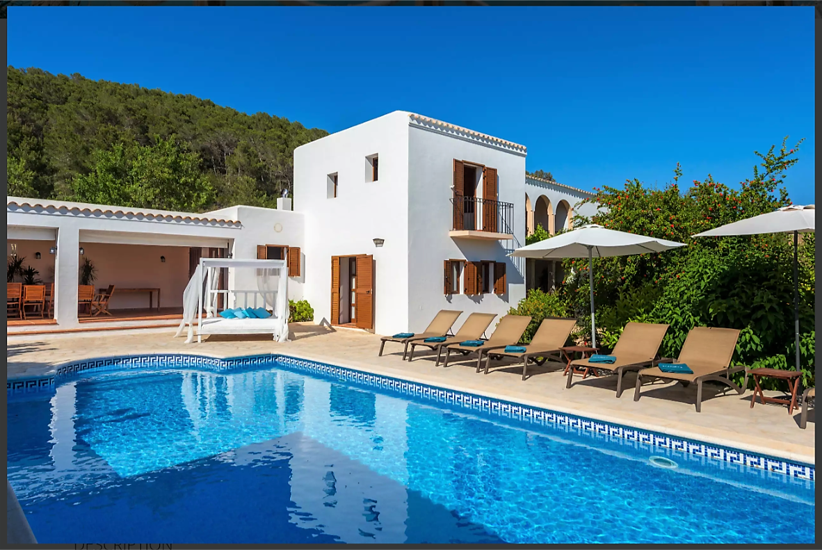 Typical Ibicenco Style For This Luxury Villa In Ibiza For 6 To 12