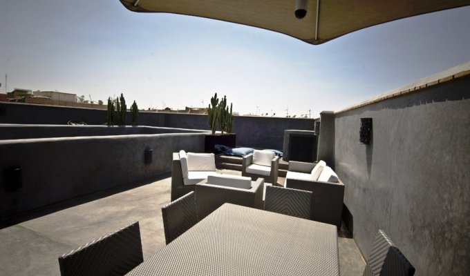 Terrace of charmed riad in Marrakech