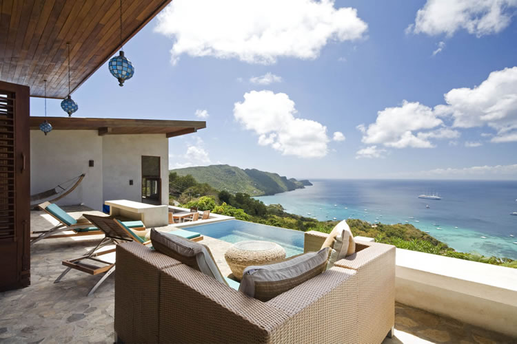 Bequia holiday villa rental sea views and intinity pool - St Vincent and Grenadines - Caribbean -