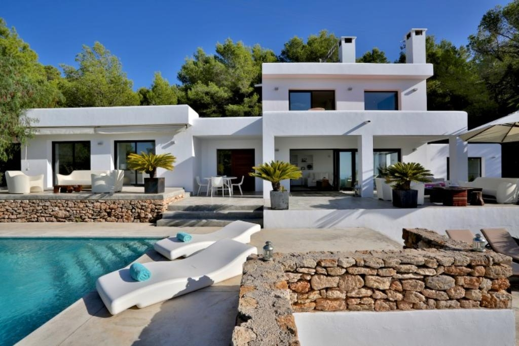 Exceptional Great Ibiza Luxury Holiday Villa Rentals Private Pool Seaside Cala Tarida  Balearic Islands Spain With Location Maison Bord De Mer Portugal