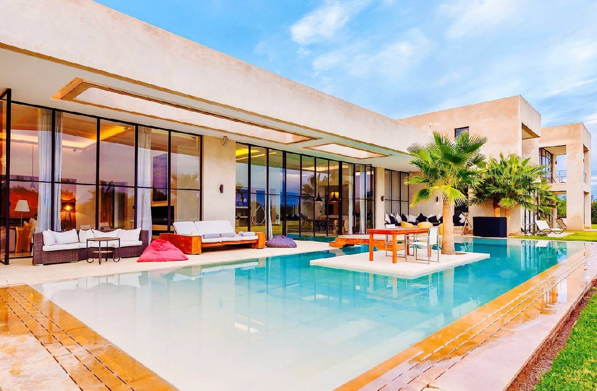 Exceptional Pool Of Luxury Villa In Marrakech ...
