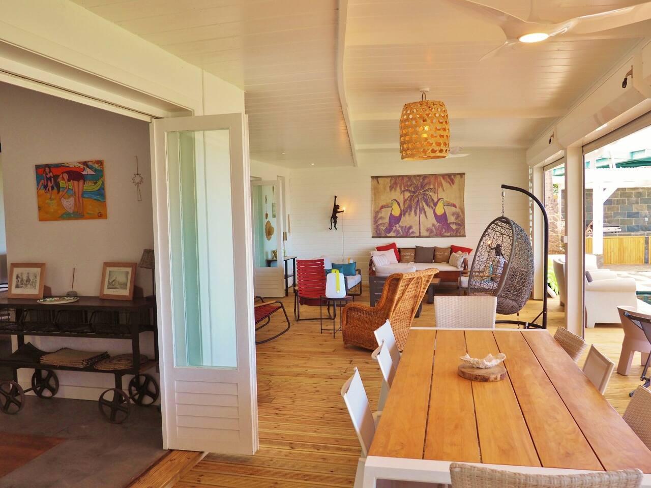 Reunion island beachfront villa holiday rental in la for Salin les bains