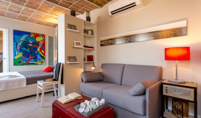 Furnished apartment rentals Barcelona for short term rentals Wifi AC terrace