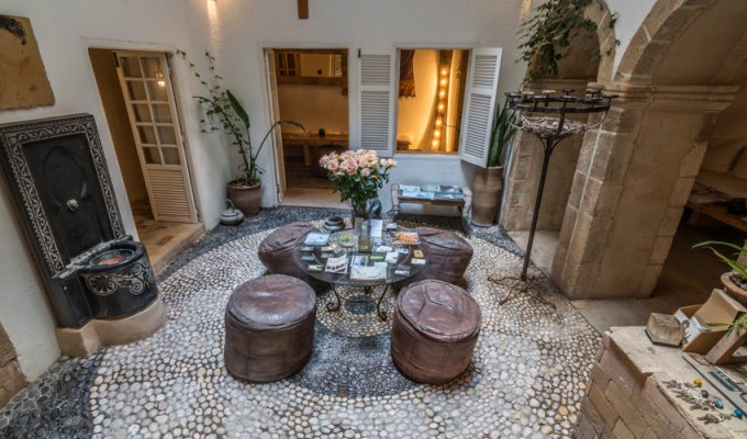 Living room of Charmed riad in Marrakech