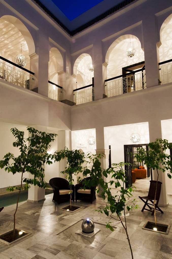View patio of charmed riad in Marrakech