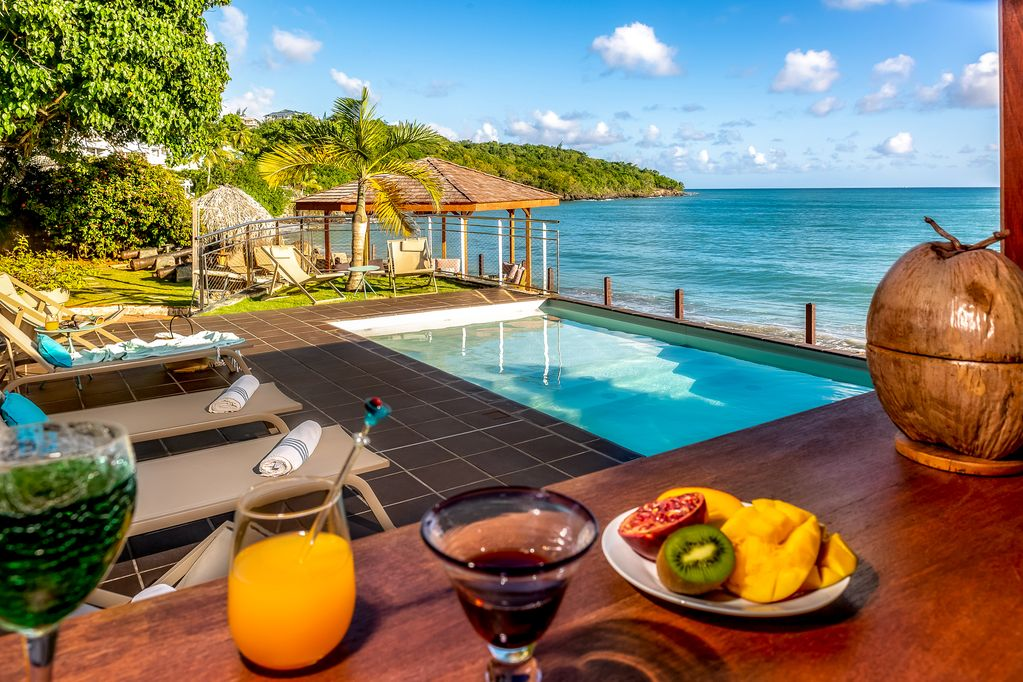 Beachfront Martinique Villa Rentals With Private Pool Le