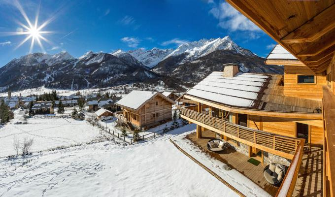 Serre chevalier luxury chalet rentals ski slopes indoor pool spa concierge services