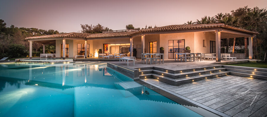 Saint Tropez Luxury Villa Rentals Heated Pool With