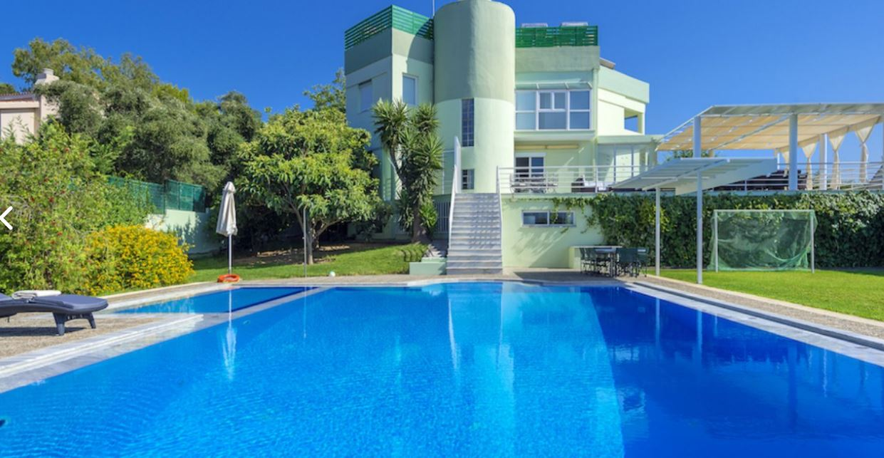 Luxury villa vacation rental in crete with private swimming pool for Vacation rentals with private swimming pool