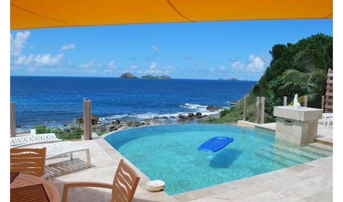 Seafront Luxury Villa Vacation Rentals with private pool - Private Sunning Beach - Anse des Cayes - St Barts - FWI