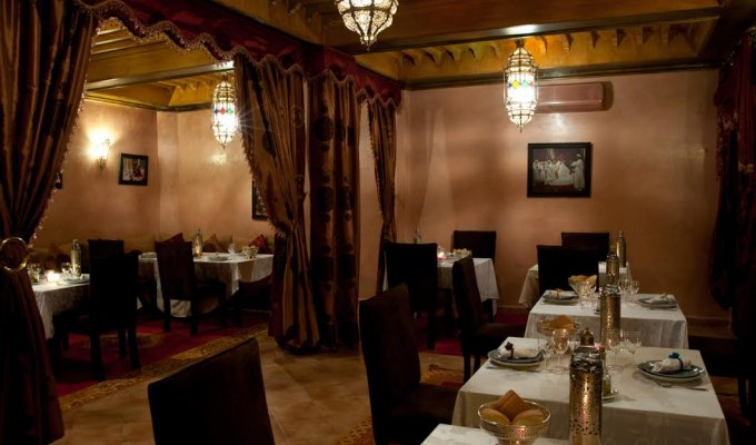 Restaurant of charmed riad in Marrakech