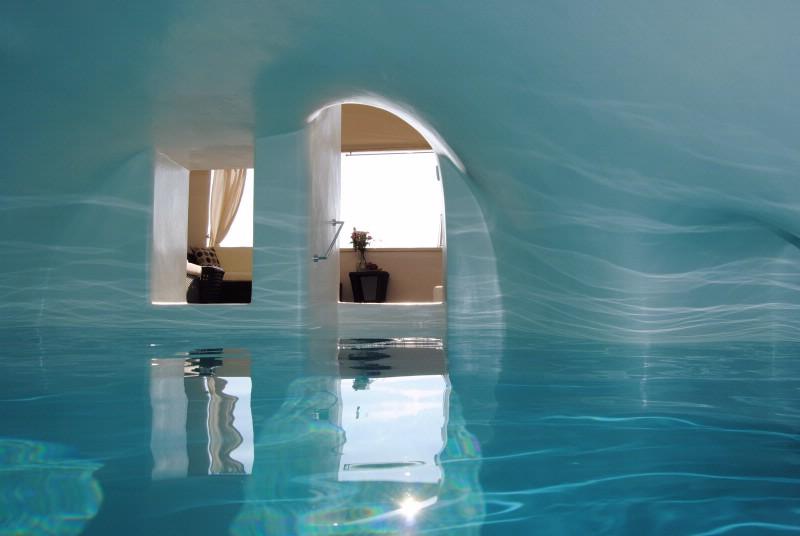 ... Luxury Santorini Villa Rental With Heated Indoor Swimming Pool, Ideal  For Honeymoon ...